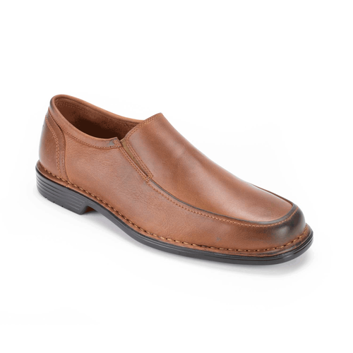 Washington Square Double Gore Slip On Men's Dress Shoes in Brown